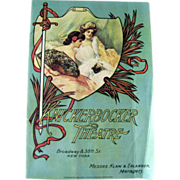 Knickerbocker Theater 1920s Program / Playbill / Paper Ephemera / Advertising / New York Memorabilia / Scrapbooking / Vintage Advertising