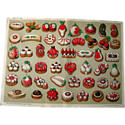 Antique German Christmas Cookie Print Weihnachtsgeback c1900s / Home Decor / Wall Hanging / Office Decor / Antique Illustration / Pastry - Red Tag Sale Item