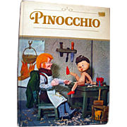Pinocchio Vintage Puppet Book Illustrated by Tadasu Izawa and Shigemi Hijikata - 1971 Grosset Book - Illustrated Childrens Book