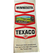 Texaco Minnesota Map 1970s Vintage Road Map /Vintage Ephemera / Scrapbooking / Vintage Advertising