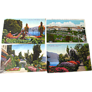Scenic Tinted Photograph Postcard Destash Lot / Vintage Postcards / Vintage Ephemera / Souvenir Post Cards