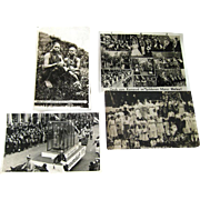Photographic Postcards Kami Girls / German Carneval / Picnic Scene / Vintage Postcards / Vintage Ephemera / Photo Postcards
