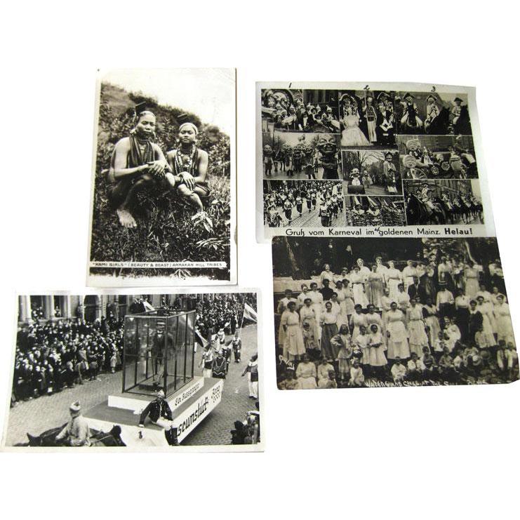 Photographic Postcards Kami Girls / German Carneval / Picnic Scene / Vintage Postcards / Vintage Ephemera / Photo Postcards