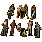 Working Men Professions Cardboard Cut Outs - Magnetic Art - Teaching Tools - Holt Rinehart Winston - Educational Materials - Classroom