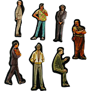 Men Cardboard Cut Outs - Magnetic Art - Teaching Tools - Holt Rinehart Winston - Educational Materials - Classroom