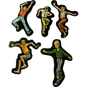 Active Boys Cardboard Cut Outs - Magnetic Art - Teaching Tools - Holt Rinehart Winston - Educational Materials - Classroom