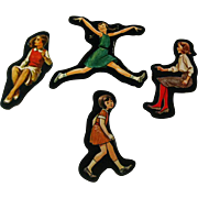 Active Girls Cardboard Cut Outs - Magnetic Art - Teaching Tools - Holt Rinehart Winston - Educational Materials - Classroom