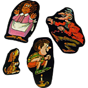 Nursery Rhyme Cardboard Cut Out Set School Of Rock - Magnetic Art - Teaching Tools - Holt Rinehart Winston - Nursery Decor
