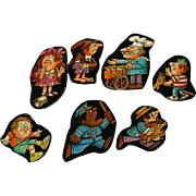 Nursery Rhyme Cardboard Cut Out Set of Seven - House Of Rock Artwork - Graphic Art - Holt Rinehart Winston - Baby Room Decor - Nursery Decor