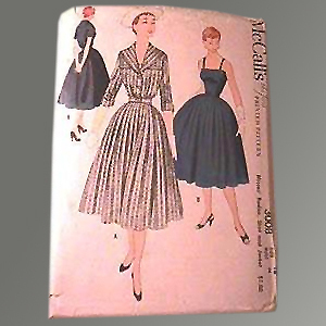 Vintage Rockabilly 1954 Uncut McCall's Skirt Sewing Pattern #3008