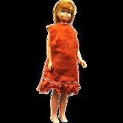 Straight Leg Skipper Doll - Vintage Skipper Doll in Homemade Outfit - Mattel Skipper Doll