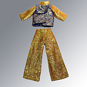 Vintage MOD Barbie Disco Shimmering Lounging Pajamas