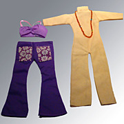 Flower Power Barbie Jumpsuit and Midriff Outfits