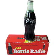 Vintage Coke Bottle AM Radio In Original Box / Vintage Electronics / Novelty Radio