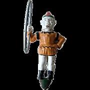 Vintage Cast Iron Clown for Trick Dog Bank / Home Decor / Novelty Item