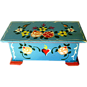 Dora Kuhn Miniature Hope Chest West Germany Hand Painted / Dollhouse Furniture / Miniature Hope Chest