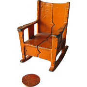 Kilgore Miniature Dollhouse Cast Iron Chair / Dollhouse Miniature