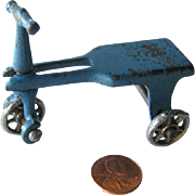 Kilgore Cast Iron Scooter or Tricycle / Miniature Cast Iron Dollhouse / Dollhouse Miniature