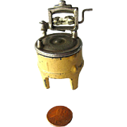 Kilgore Cast Iron Washing Machine with Ringer / Miniature Cast Iron Dollhouse / Dollhouse Miniature