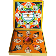 Jolly Clown Spinette Game 1930s Milton Bradley Vintage Game / Vintage Graphics
