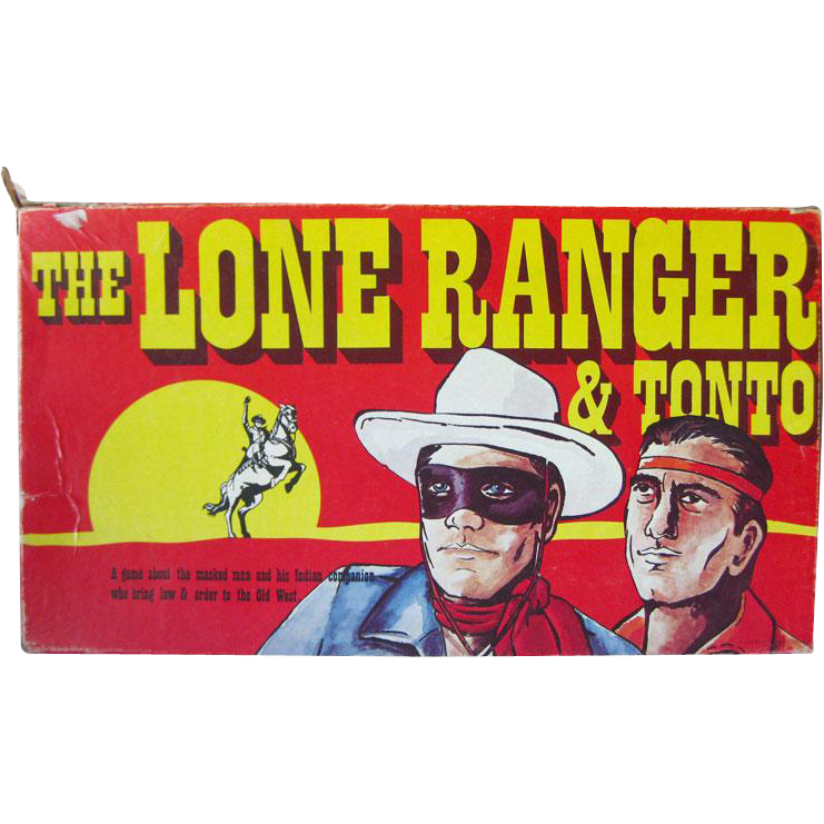 The Lone Ranger and Tonto Game by Warren Paper Products 1978 / Vintage Board Game / Television Game / Western Game