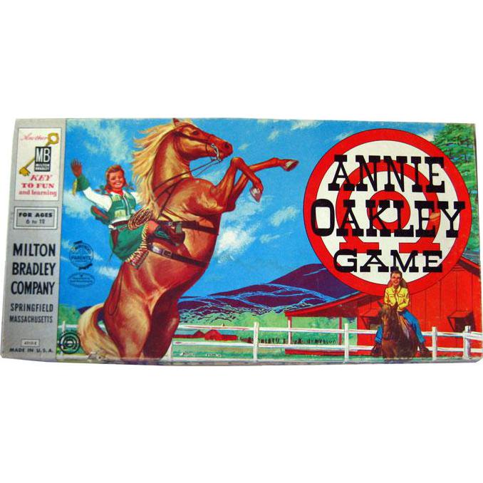 Annie Oakley Vintage Game By Milton Bradley Complete / Vintage Board Game / Western Board Game / Vintage Television Show / 1950s Game