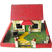 Toy Farm Yard By Amersham Toys England / Vintage Dollhouse / Amersham Farmyard / Dollhouse Miniature