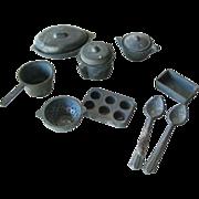 Miniature Dollhouse Pots and Pan Set - Mini Kitchenware - Doll House Miniature Pans - Mini Craft