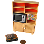 Tomy Dollhouse TV Cabinet Entertainment Center - Dollhouse Living Room - Miniature TV Cabinet - Doll House Furniture