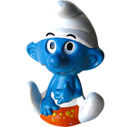 Vintage Talking Smurf Chatter Chum Toy - Pull String Toy - Peyo Talking Smurf - Collectible Toy - Retro Toy