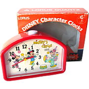 Disney Character Clock by Lorus - Mickey Mouse Circus Clock - Walt Disney - Character Desk Clock