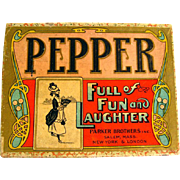 RARE Pepper Parker Brothers Game - Turn Of The Century Game - Vintage Card Game - Vintage Game Cards - Game Night