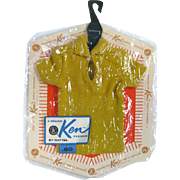 Ken Doll Pak Polo Shirt NRFP - MIP Ken Shirt - Barbie Doll - Ken Clothes - Doll Clothes - Vintage Barbie Doll - Vintage Ken Doll