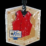 Ken Doll Fashion Pak Red Vest NRFP - MIP Ken Clothes - Barbie Doll - Doll Clothes - Vintage Barbie Doll - Vintage Ken Doll