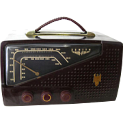 Zenith AM FM Radio In Bakelite Case - Zenith Model 7H922 Radio - Old Zenith Radio - Bakelite Tabletop Radio - 1950s Bakelite Radio