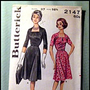 Vintage Butterick Womans Dress Pattern