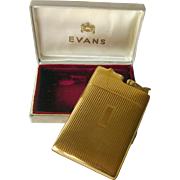 Evans Cigarette Case And Lighter - Tobacciana Gift