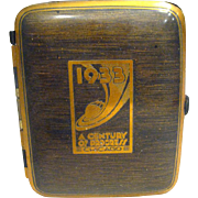 Worlds Fair Souvenir Cigarette Case From The Chicago Worlds Fair