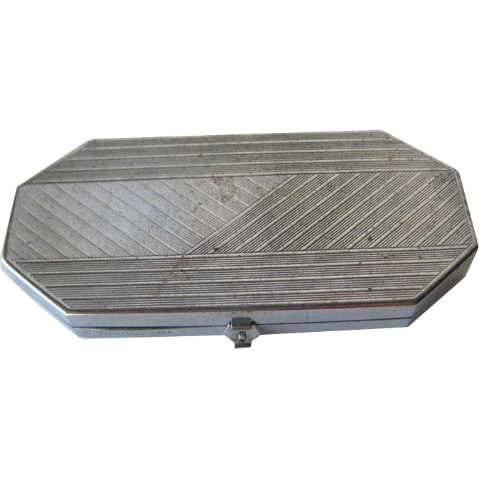Houbigant Art Deco Powder and Rouge Compact 1930's / Wedding Gift / Vanity Item / Purse Accessory