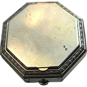 Art Deco Lazell Vintage Powder Octagonal Compact 1930's de Meridor - Vanity Compact - Purse Accessory - Compressed Powder Compact