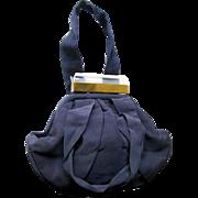 Lucite and Fabric Purse By Spot Lite L and M Company - Collectible Purse - 1940s Vintage Purse - Cloth Handbag - Spot Lite Handbag