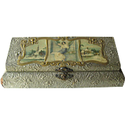 Art Nouveau Glove Box or Dresser Box - Celluloid Dresser Box - Decorative Glove Box - Turn Of The Century Glove Box - Trinket Box