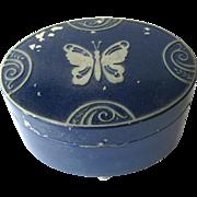 Lucretia Vanderbilt Powder Box 1930s Vanity - Scovill Manufacturing - Dresser Set Powder Box