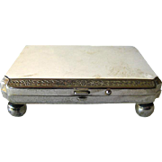 Silver Footed Presentation Box - Watch Presentation Box - Silver Plated Jewelry Box - Repousse Silver Box