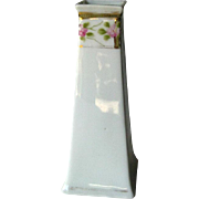 Nippon Bud Vase or Hat Pin Holder With Floral Design - Vintage Vanity Table
