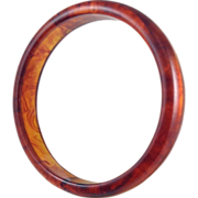 Cherry Apple Juice Red to Amber Tortoise Shell BAKELITE Bracelet Early Plastic Bangle
