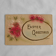 Postcard: Embossed  Easter                 Circa 1900s