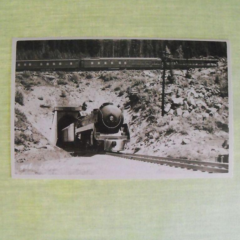 Postcard: Photo: Trains Crossing