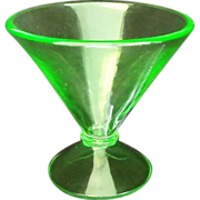 Green Uranium Glass Vase