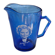 Hazel Atlas Shirley Temple Pitcher                             Circa; 1930s